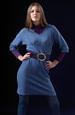 Pletené tunikové šaty s netopýřími rukávy