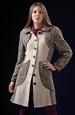 Pletený kabát kombinovaný s vlněnou látkou