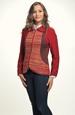 Kombinovaný pletený kabátek na zip