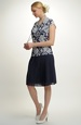 Krátké šaty s tiskem na živůtku