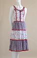 Letní šaty prádlového střihu s krinolínovou sukní