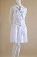Letní šatová sukně z bavlny s ozdobnými druky