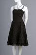 Černé korzetové minišaty s kolovou sukní