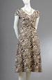 Letní šaty s řasením na předním díle