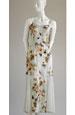 Elastické šaty se vzorem květu a tylovou vsadkou