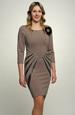 Béžové krátké šaty s proužky