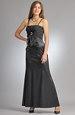 Elegantní společenské šaty s řasením na sedle