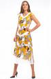 Letní šifónové tunikové šaty s velkým vzorem