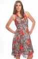 Šifónové šaty s vázáním za krk se zvířecím vzorem