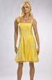 Šaty do tanečních krátké žluté