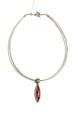 Červená kapka náhrdelník lanko