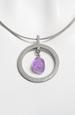 Fialkový náhrdelník lanko