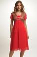 Společenské šaty pro plnoštíhlé v módní barvě