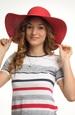 Dámský klobouk červený