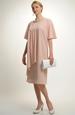 Šifonové krátké šaty s rukávky