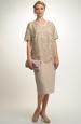 Krajkové krátké šaty pro plnoštíhlé