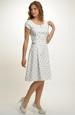 Princesové šaty s jemným vzorem