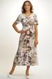 Letní šaty s jemným vzorem z viskózy