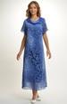 Společenské dlouhé šaty ze šifónu s rukávem