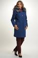 Dámský kabát - paleto s odepínací kapucí