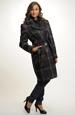 Elegantní kabát z módního kostkovaného materiálu