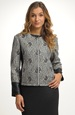 Pleteninový kabátek s krajkou