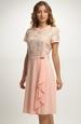 Společenské šaty s řasením na sukni