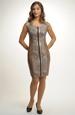 Módní dámské šaty se zvířecím tiskem