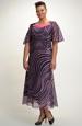 Šifonové šaty s řasením