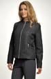 Mladistvý dámský černý kabátek na zip