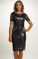 Černo stříbrné koktejlové šaty
