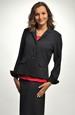 Sportovně-elegantní dámské černé sako