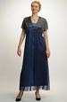 Šifonové plesové šaty 48, 50... / xxl až xxxl