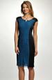 Pouzdrové šaty s volánkovým zdobením