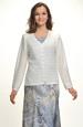 Pletený krajkový svetr