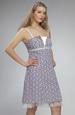 Madeirové šaty na ramínka s členěným sedlem
