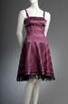 Taftové pruhované korzetové šaty s kolovou sukní