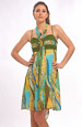 Letní šaty s děleným sedlem a protaženou stuhou