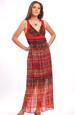 Letní šaty dlouhé s africkým vzorem