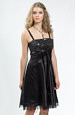 Šaty do tanečních s černým flitrovým sedlem