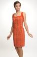 Pouzdrové šaty na široká ramínka.