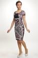 Pouzdrové šaty s grafickým vzorem