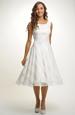 Elegantní jednoduché svatební šaty