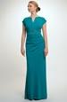 Elegantní plesové šaty s řasením