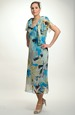 Společenské dlouhé šaty z šifónu s rukávem