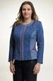 Pleteninový kabátek riflový