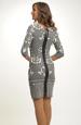 Pleteninové šaty zdobené módním vzorem