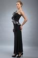 Elegantní večerní šaty se zajímavým volánem