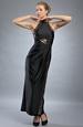 Elegantní večerní černé šaty