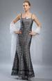 Plesové společenské šaty z krešované látky